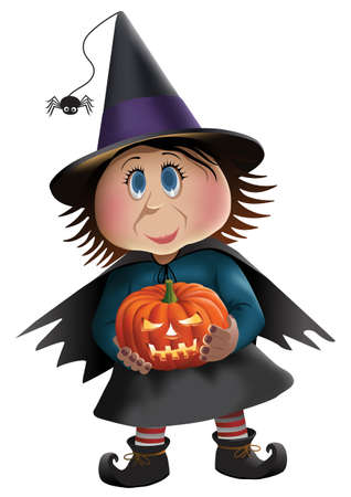 Cute Witch Illustration Stock Illustratie