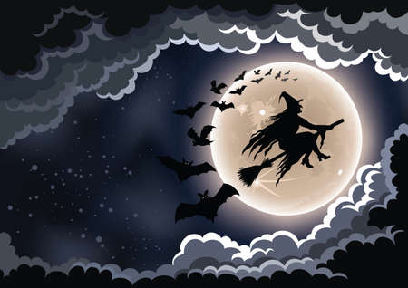 Wicked Witch Background Stock Illustratie