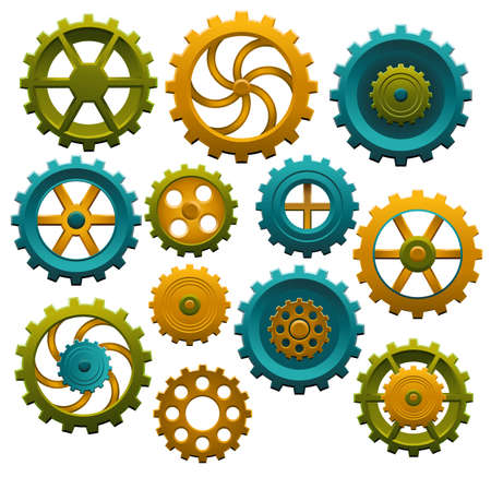 Series of cog wheels