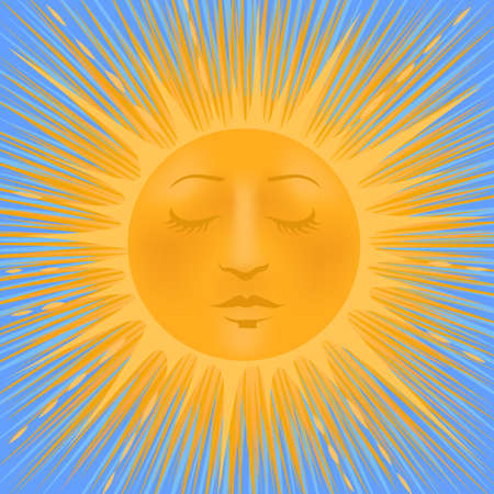 Beaming Sun with a Face.
