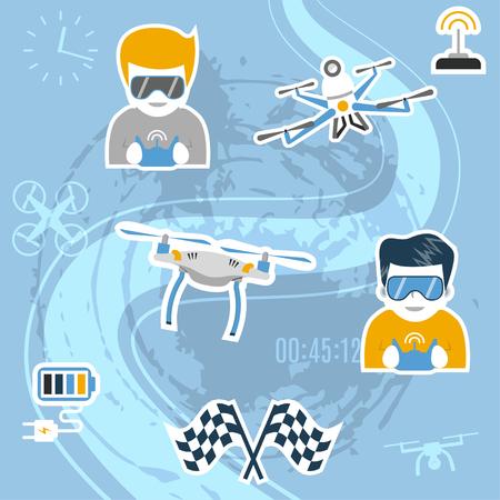 Drone sport. Illustration