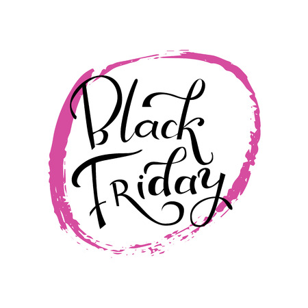 Hand-belettering Black Friday verkoop typografische poster. Moderne kalligrafie.
