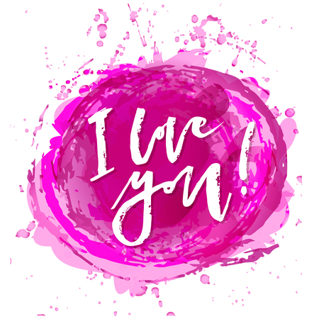 I love you hand lettering typography vector design. Illustration