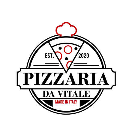 Pizza logo design vrctor illustration