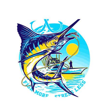 Fishing marline  design vector Ilustração