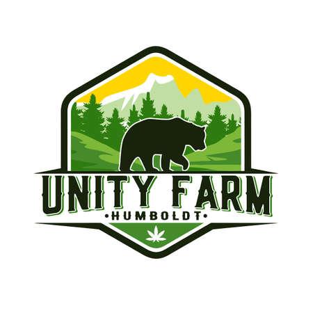 Animals farm logo design vector illustration Banco de Imagens - 155924875