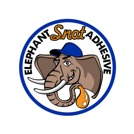 Elephant cartoon logo design vector illustration