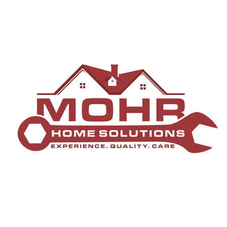 House renovation and repair vector logo illustration