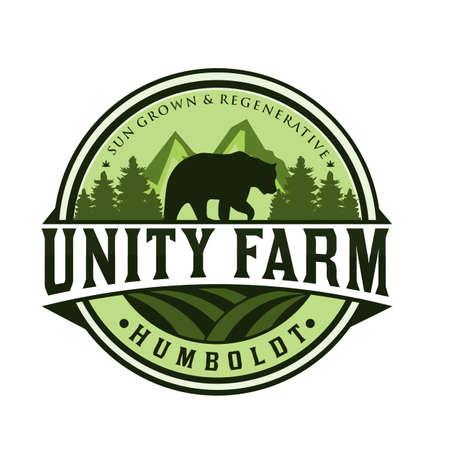 Animals farm logo design vector illustration Ilustração