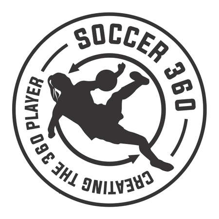 Soccer logo design vintage vector illustration