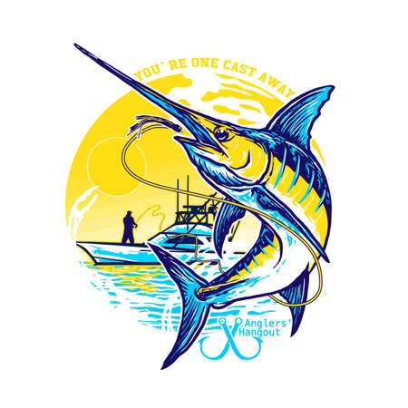 Fishing marline  design vector Banco de Imagens - 156553679