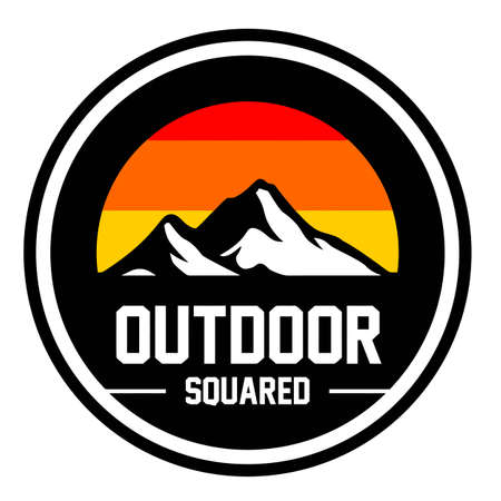 Mountain park and outdoor logo design vector
