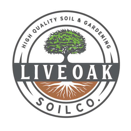 Tree oak park logo design vector illustration Ilustração