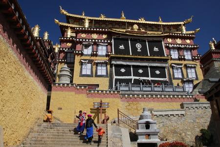 yunnan: Ganden Gompa Sumsteling Zhongdian Shangri-La Yunnan China Editorial