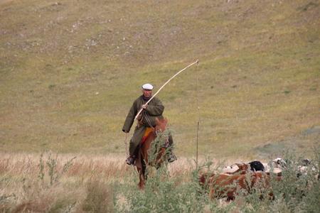 nomadic: Nomadic Mongolian shepherd Asia