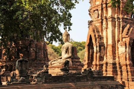Ayutthaya historical temple complex Thailand Asia