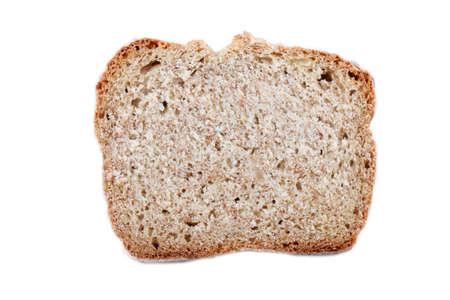 bread soda: slice home baked irish soda bread, isolated on white
