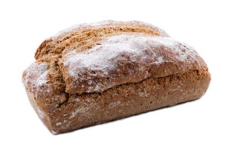 bread soda: home baked irish soda bread, isolated on white