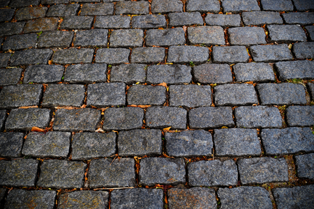 cobblestone road: Closeup shot of cobblestone road in Colonia Uruguay. Traditional old street.
