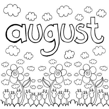 August doodle sketch
