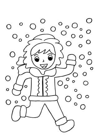 Snow boy. Doodle.