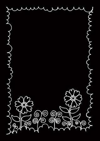 Beautiful flower frame.