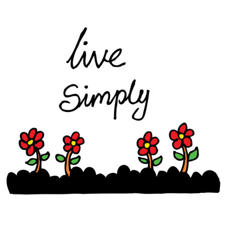 Live simply. Hand lettering.