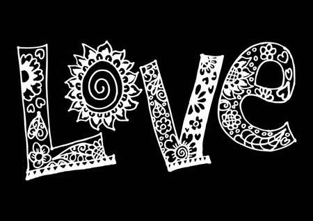 Love, hand lettering.