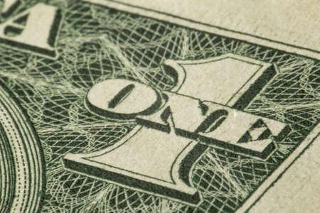 US Dollar Bill, Super macro