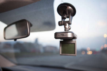 car safety: Proof, Safety Camera Inside Car Stock Photo