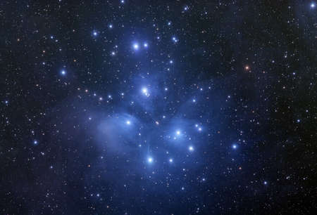 interstellar: Pleiades Star Cluster Stock Photo