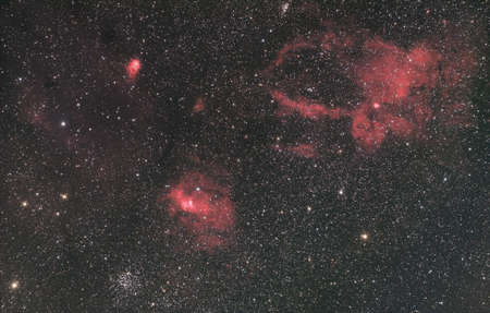 buble: The Buble Nebula is a emission nebula in the constellation
