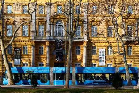 ZAGREB, CROATIA - 27 FEBRUARY, 2015: Early morning commuters in Zagrebs