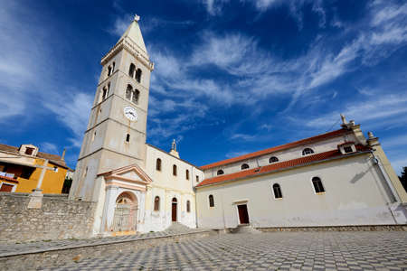 blessed virgin mary: The majestic church of the Annunciation of the Blessed Virgin Mary in Mali Losinj, a popular tourist destination