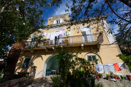 manora: Mali Losinj, Croatia - September 19, 2015: House of the former Manora Observatory where the famous astronomer Leo Brenner observed the planets from 1893. - 1909. with a 7 refractor telescope.