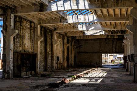 Building interior in Goli otok (Naked Island) was a political prison in ex-Yugoslavia.