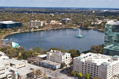 Lake Eola from top of a highrise in downtown Orlando, Florida Reklamní fotografie