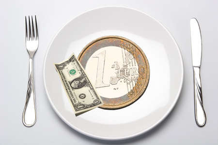fission: Budget, Finance, Money, Calculation, Fission, Euro, Europe, Dollar, USA, America Stock Photo