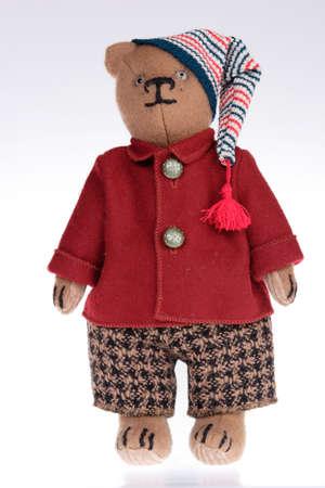 handiwork: Juguetes, Retrato del oso de peluche, trabajos manuales, los hogares Valor Foto de archivo