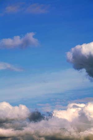 atmospheric phenomena: Atmospheric Phenomena, Blue Sky on Cloud Stock Photo