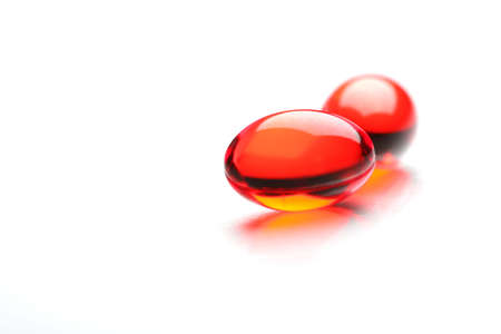 medicament: TVO Roja C�psulas con medicamento, closeup