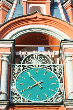 Old-time Tower Watch of the Orthodox Temple with Green Dial photo