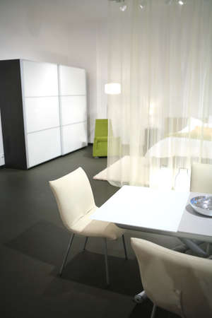 Interior of modern dwelling studio in light tone Stock Photo - 3001808