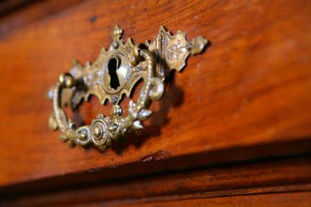 fragment to old-time furniture, Vintage, chest of drawers photo