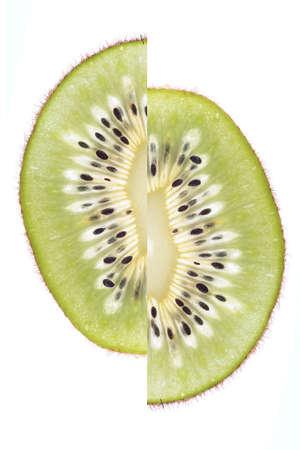 shifted: exotic fruit, shifted kiwi, transparent cut