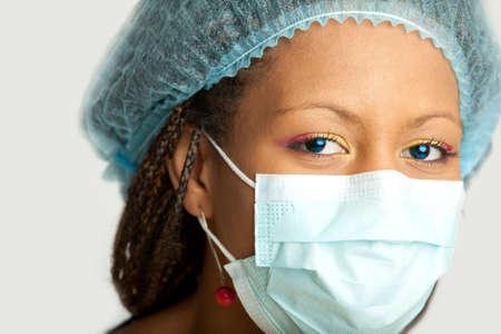 portrait of the medical nurse in mask