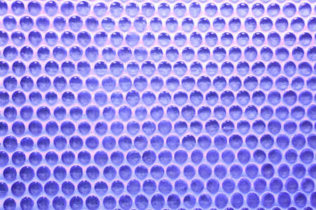 imbedded: part of the blue wall from glass balls