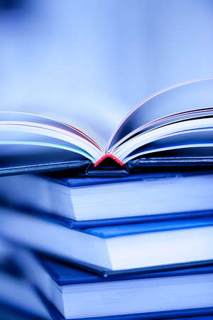 books lie on each other. with copy-space, small depth to sharpness Stock Photo - 7626326