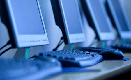 Monitor LCD e la tastiera. piccola profondit� nitidezza