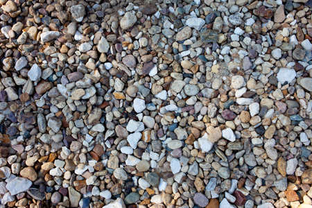 singly: many multicolored stones, abstract background Stock Photo